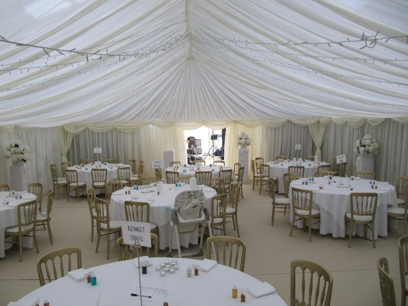 ceiling decoration ideas for a party - how marquee linings transform any space into a perfect