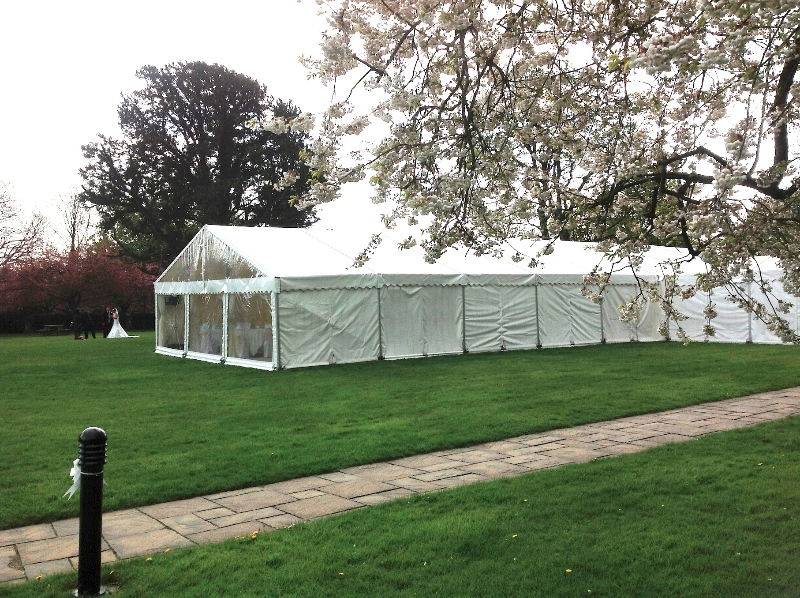 Hazlewood Castle Wedding Marquee