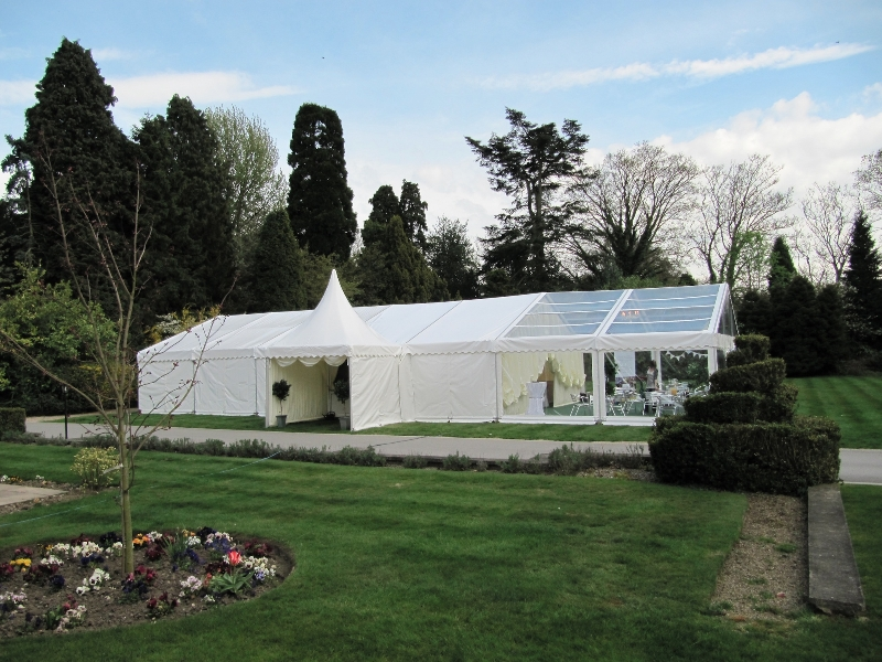 wedding marquee with china hat pagoda