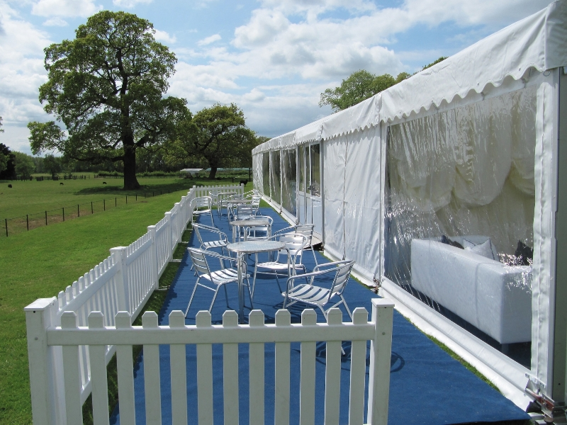 marquee decked area