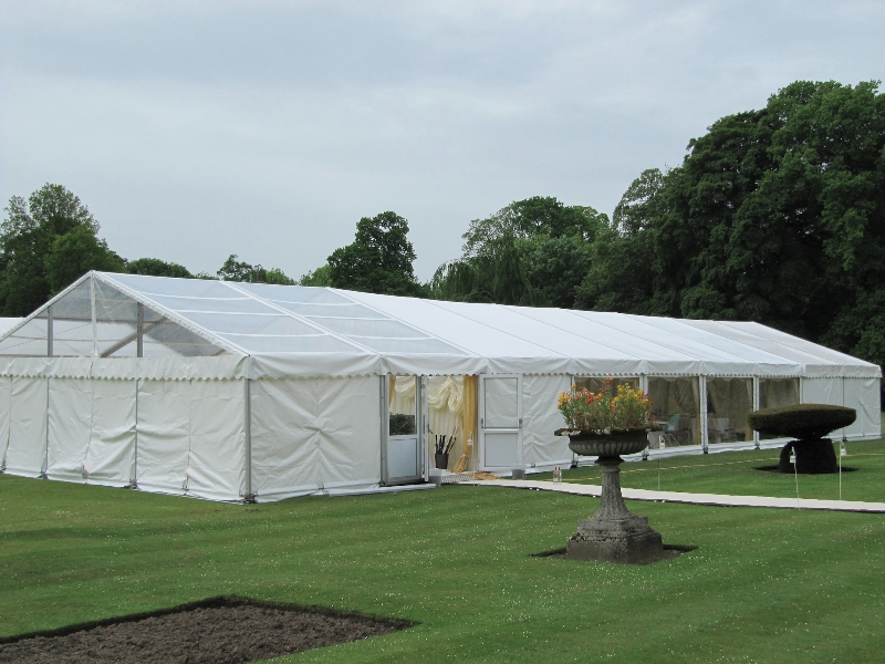 newburgh priory south lawn wedding marquee