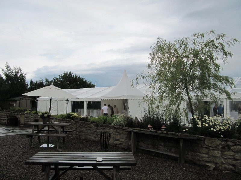 star inn harome wedding marquee