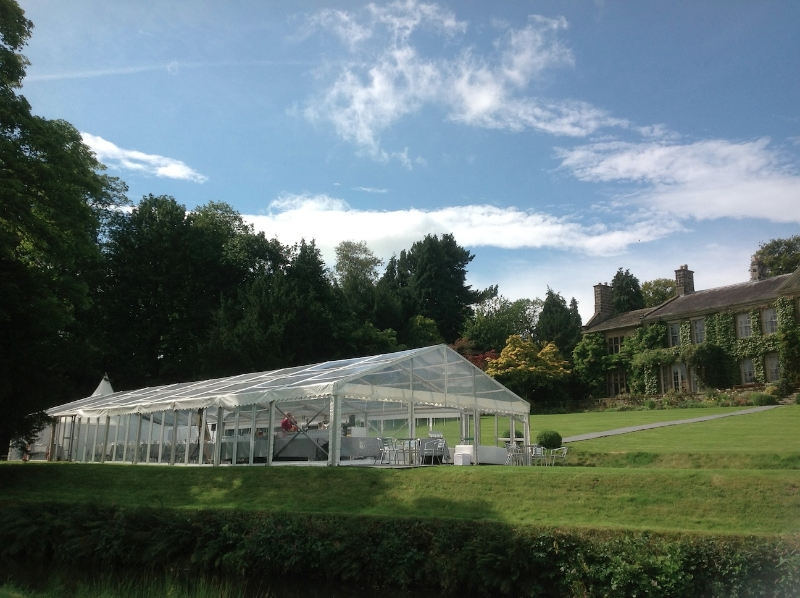 Birstwith Hall wedding marquee exterior