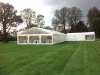 Hazlewood Castle Wedding Marquee clear gable