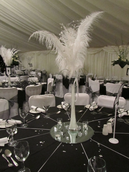 stylish black and white theme marquee interior