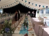shabby chic wedding marquee interior