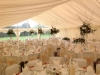Hazlewood Castle wedding marquee interior