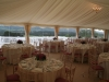 elegant wedding marquee interior