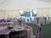 lilac wedding marquee theme interior