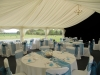 blue wedding marquee interior
