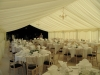 romantic cream and ivory wedding marquee interior
