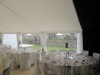 contemporary wedding marquee interior