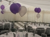 wedding marquee interior purple theme