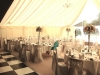 Wedding Marquee Interior with Chequered Dance Floor