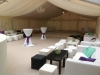 Hazlewood Castle Wedding Party Marquee Interior Furniture