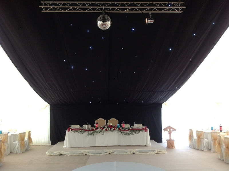 Asian Wedding Marquee Top Table