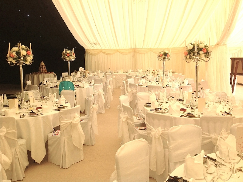 Wedding Marquee with Ivory Linings