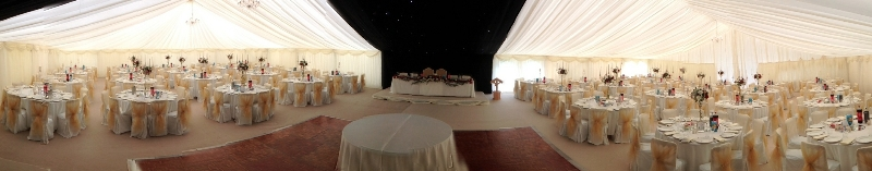 Asian Wedding Marquee Panorama