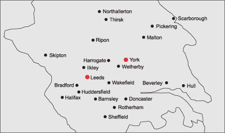 Churchill Marquee Hire Yorkshire Location Map Image