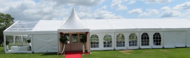Wedding Marquee with China Hat Entrance by C&S Marquees Image