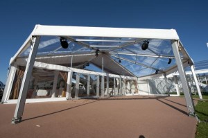 12 metre clear bell-end marquee entrance image