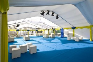 12 metre curve roof marquee interior image