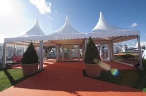 3 metre Romsey Pagoda Marquee Entrance image
