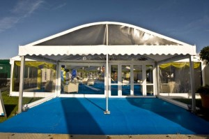 6 metre curve roof marquee entrance image