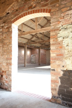 Barmby barn before marquee lining image