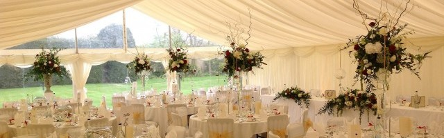Beautiful Wedding Marquee Interior Linings image