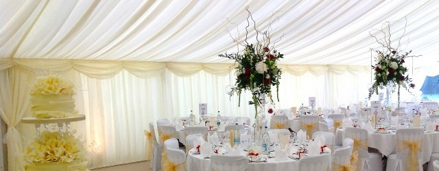 wedding marquee interior decor image